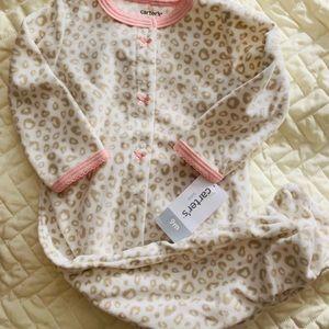 Carter's Leopard Footie Pajamas 9M & 5T NWT